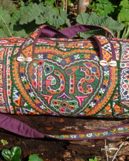 Banjara hand-embroidered vintage weekend shoulder bag